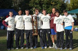 My Cross Country Team and I after a big win.